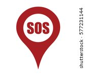 marker location icon with sos | Shutterstock .eps vector #577231144