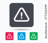 warning icon. attention... | Shutterstock . vector #577232299