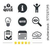 quiz icons. brainstorm or human ... | Shutterstock . vector #577237195