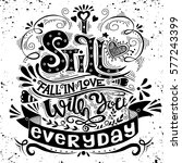 i still fall in love with you... | Shutterstock .eps vector #577243399