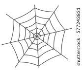 spider web isolated on white... | Shutterstock .eps vector #577243831