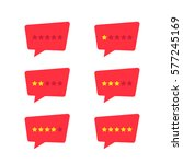 set of simple red rating stars... | Shutterstock .eps vector #577245169