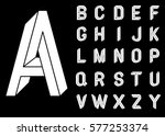 impossible geometry letters.... | Shutterstock .eps vector #577253374