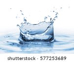 clear  beautiful splash with... | Shutterstock . vector #577253689