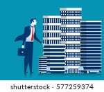business man owner of... | Shutterstock .eps vector #577259374