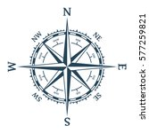 wind rose vector illustration.... | Shutterstock .eps vector #577259821