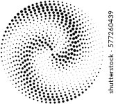 circle abstract dotted vector... | Shutterstock .eps vector #577260439
