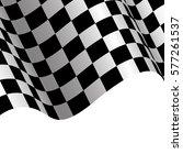 checkered flag white background ...   Shutterstock .eps vector #577261537