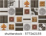 the tiles are the good texture...   Shutterstock . vector #577262155