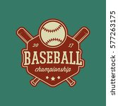baseball club logo. vintage... | Shutterstock .eps vector #577263175