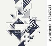 abstract modern geometric... | Shutterstock .eps vector #577267255