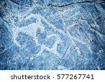 prehistoric paintings and...   Shutterstock . vector #577267741