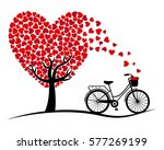 Valentine Card. Bicycle And...