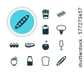 illustration of 12 meal icons.... | Shutterstock . vector #577273657