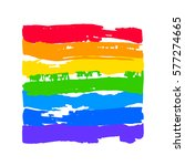 rainbow in lgbt flag colors ... | Shutterstock .eps vector #577274665