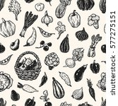 hand drawn pattern with... | Shutterstock .eps vector #577275151