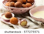 quick ricotta doughnuts.... | Shutterstock . vector #577275571