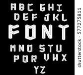 set of vector letters... | Shutterstock .eps vector #577275811