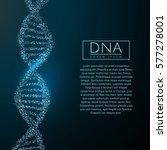 blue dna sequence glitter shiny ... | Shutterstock .eps vector #577278001