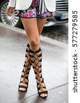 paris january 27  2015. street... | Shutterstock . vector #577279585