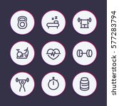 fitness line icons set  fit and ...   Shutterstock .eps vector #577283794