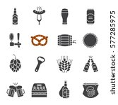 beer glyph icons set. bar and... | Shutterstock .eps vector #577285975