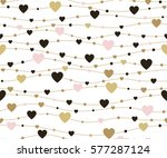 seamless pattern hearts.... | Shutterstock . vector #577287124