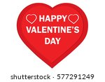 valentine red heart on white... | Shutterstock .eps vector #577291249