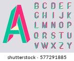 impossible shape font. memphis... | Shutterstock .eps vector #577291885