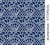 crochet pattern. knitting...   Shutterstock .eps vector #577295101