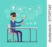 concept of virtual reality.... | Shutterstock .eps vector #577297165