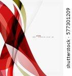 smooth elegant wave vector... | Shutterstock .eps vector #577301209