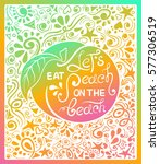 colorful illustration of peach... | Shutterstock .eps vector #577306519