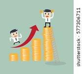 deposit growth chart concept... | Shutterstock .eps vector #577306711