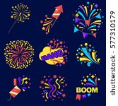 fireworks bangs collection of... | Shutterstock .eps vector #577310179
