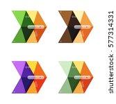 vector arrow infographics... | Shutterstock .eps vector #577314331