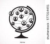 social network people  globe | Shutterstock .eps vector #577314451