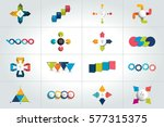 mega set of 4 steps infographic ... | Shutterstock .eps vector #577315375