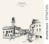 murano island in venice  italy  ... | Shutterstock .eps vector #577317151