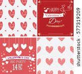 happy valentines day cards and...   Shutterstock .eps vector #577319209