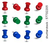 set of office pins   Shutterstock .eps vector #57732205