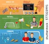 soccer banner  football sport... | Shutterstock .eps vector #577323991