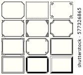 decorative simple frames  set... | Shutterstock .eps vector #577326865