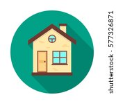 house circle icon with long... | Shutterstock .eps vector #577326871