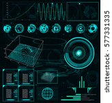 radar screen. vector... | Shutterstock .eps vector #577331335