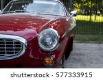 2016 09 17 volvo p1800 on verva ... | Shutterstock . vector #577333915