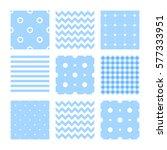 kids set of seamless patterns ... | Shutterstock .eps vector #577333951