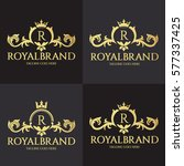 royal brand logo design... | Shutterstock .eps vector #577337425