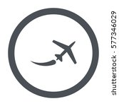 airplane icon  flat design style | Shutterstock .eps vector #577346029