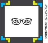 glasses with eyes vector icon....